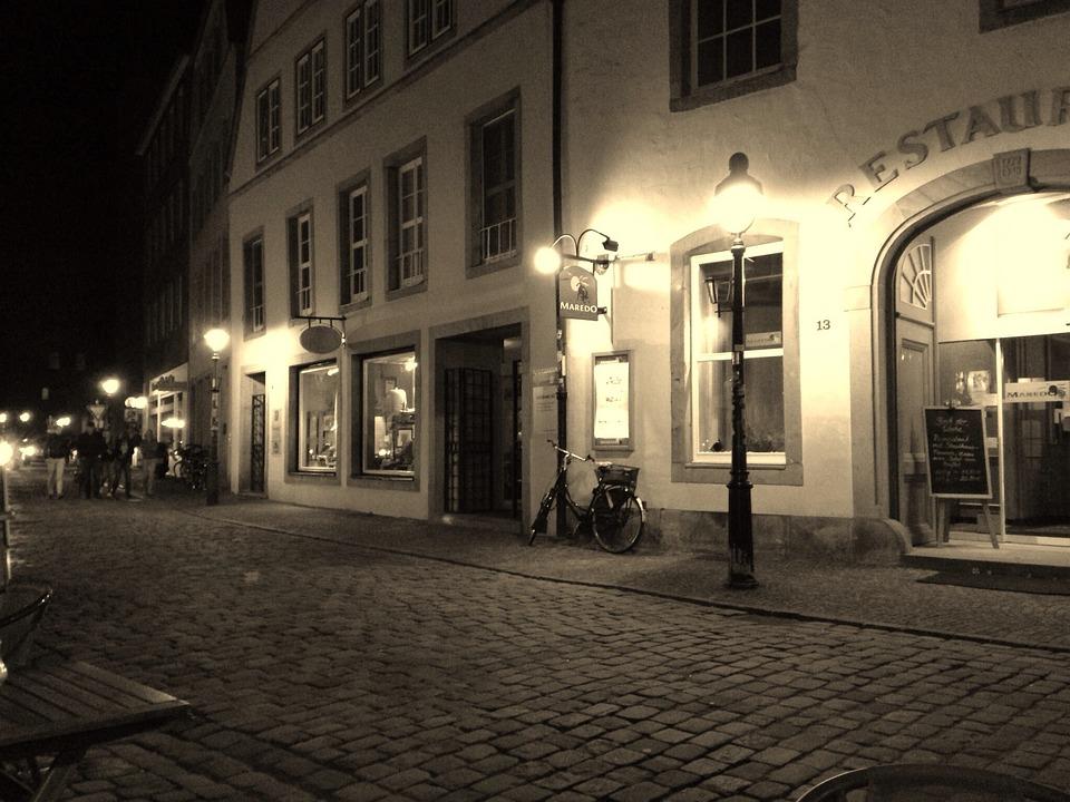 Osnabrück, Alley, Evening, Old Town, Twilight