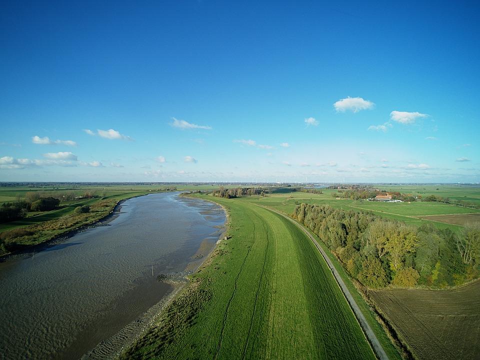 Aerial, Foto, Multicopter, Landscape, Ostfriesland