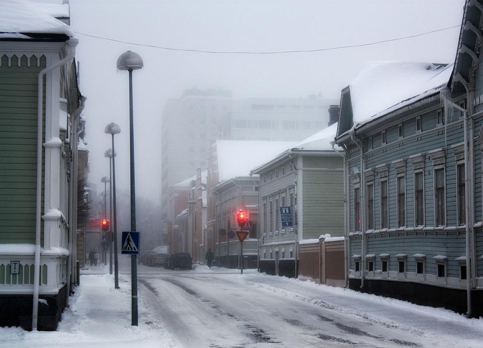 Oulu, Finland, Winter, Snow, Ice, Buildings, Snowy