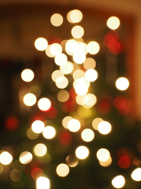 Free photo Out Of Focus Lights Bokeh Christmas Points Of Light ...