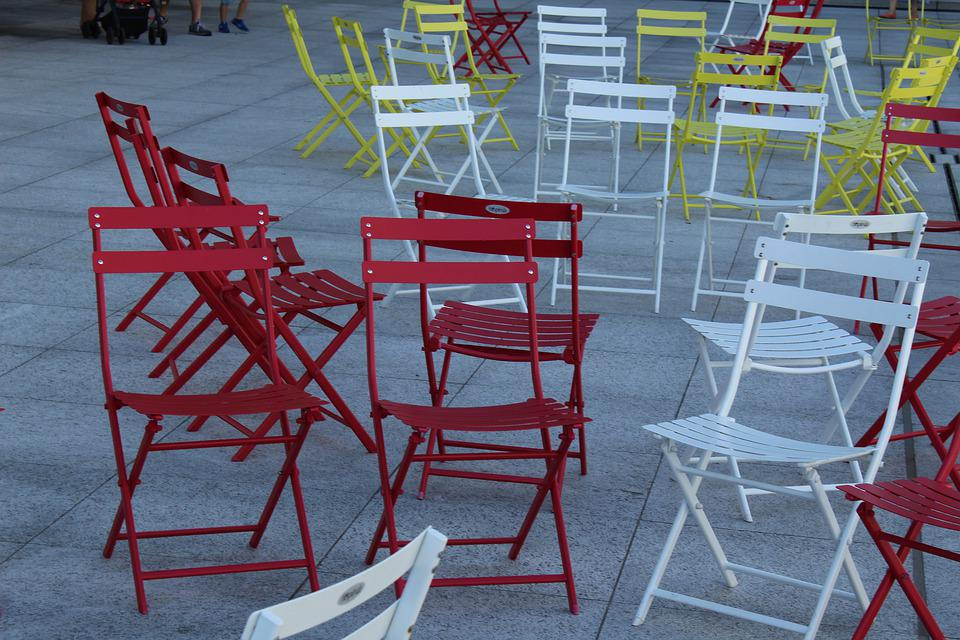 Garden Chairs, Terrace, Seating Arrangement, Out