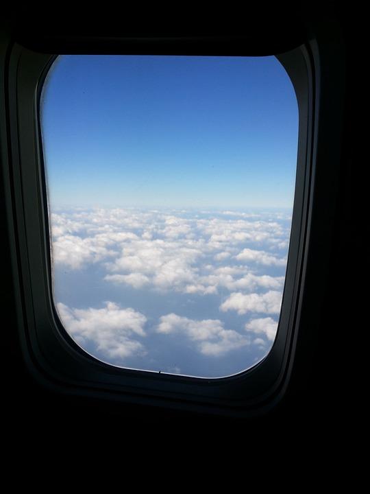 Sky, Plane, Cloud, Out The Window