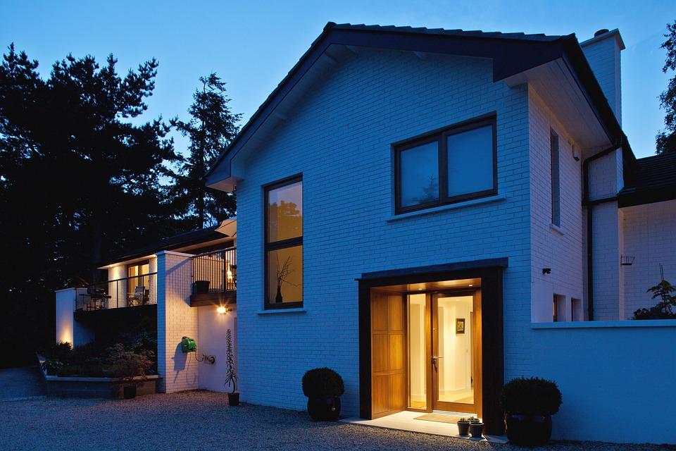 White Brick, Evening, Exterior, Outdoor, Architecture