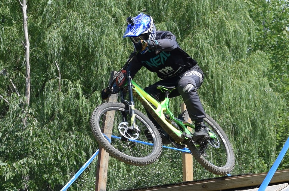 Biker, Mountain Bike, Jump, Cycling, Biking, Outdoor