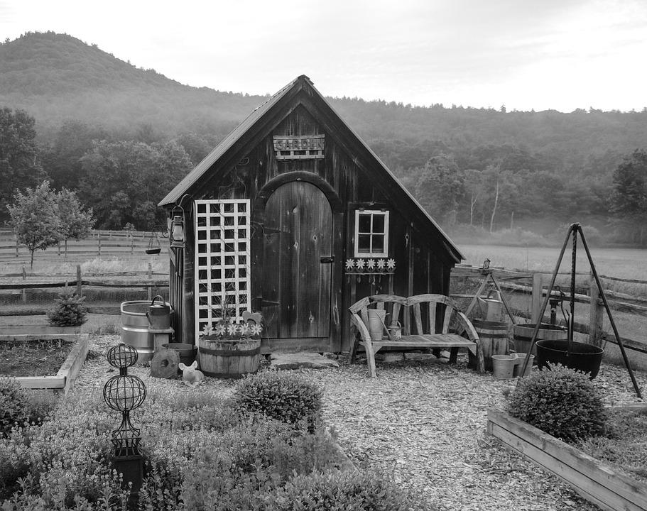 Garden Shed, Country, Gardening, Rural, Wooden, Outdoor
