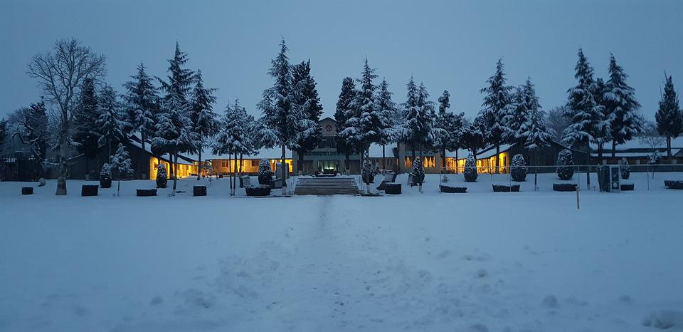 Snow, Outdoor, Lights, Cold, Nature, Girl, Landscape