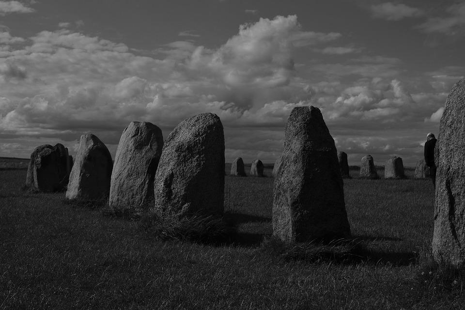 Megalithic Monuments, Monochrome, Outdoor, Riddle