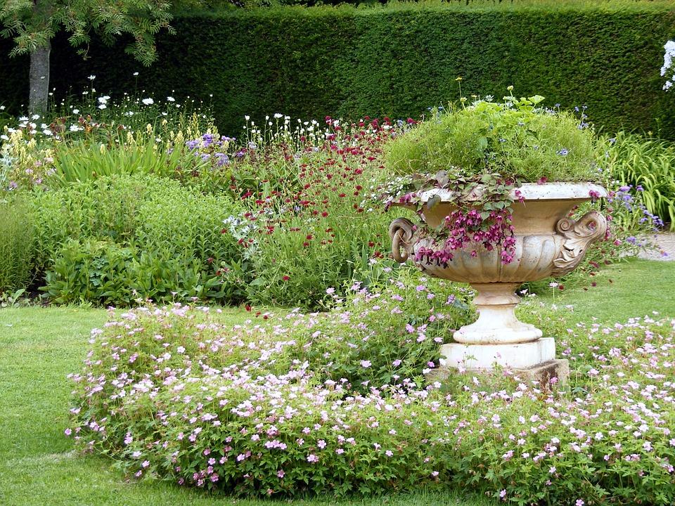 Garden, Urn, Ornamental, Decorative, Outdoor, Hedge
