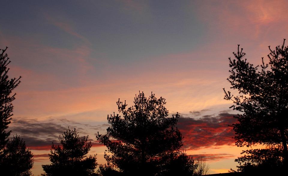Sunrise, Fall, Landscape, Sunlight, Outdoor, Weather