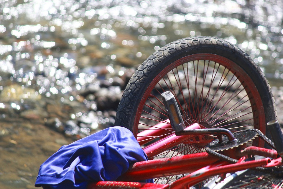 Wheel, Transportation, Bike, Outdoor, River, Red, View