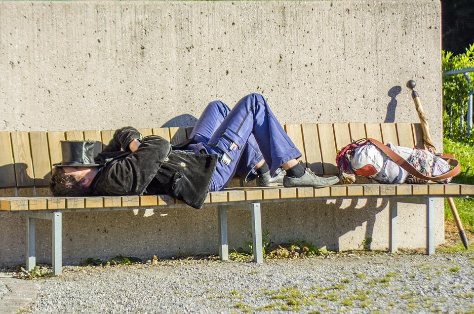 Artist, Road, Rest, Street Art, Bench, Sleep, Outdoores