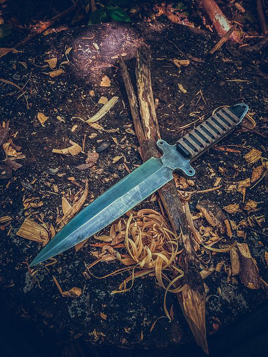 Knife, Blade, Ground, Camping, Camp, Outdoors