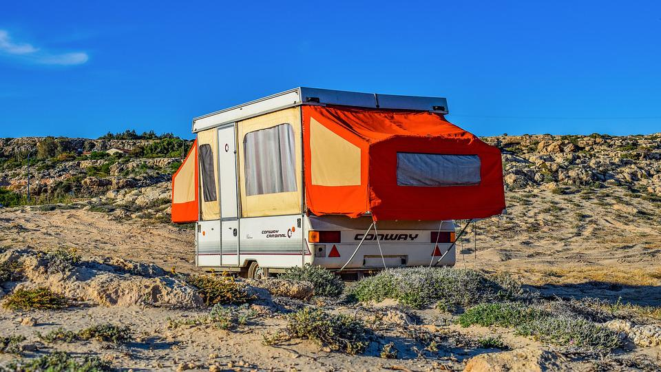 Caravan, Trailer, Nature, Outdoors, Spring, Travel
