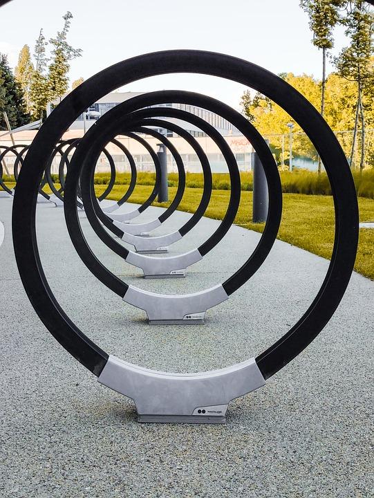 Rings, Hoops, Park, Circles, Black Circles, Outdoors