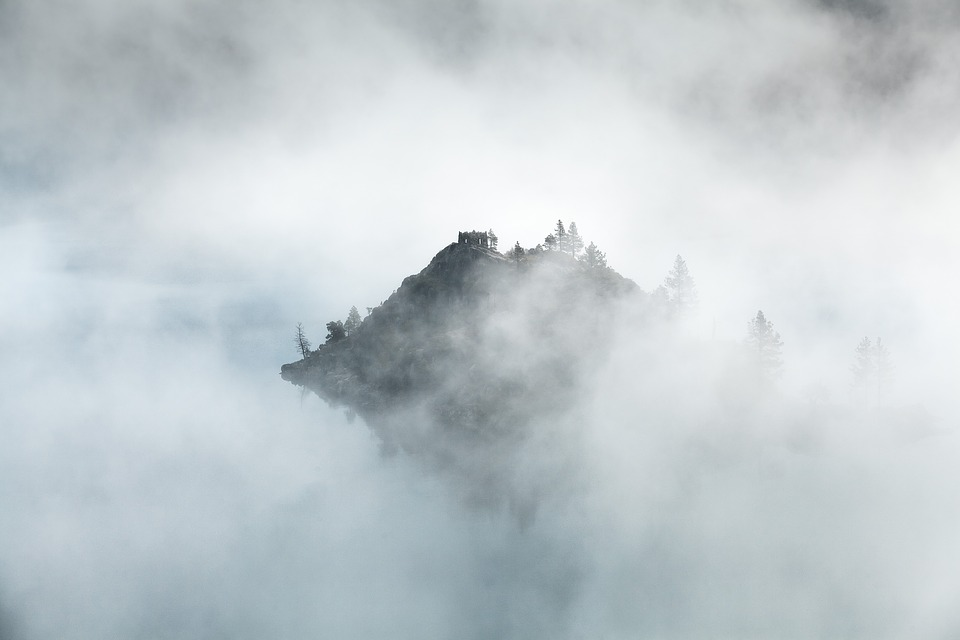 Clouds, Fog, Mist, Island, Nature, Outdoors, Weather