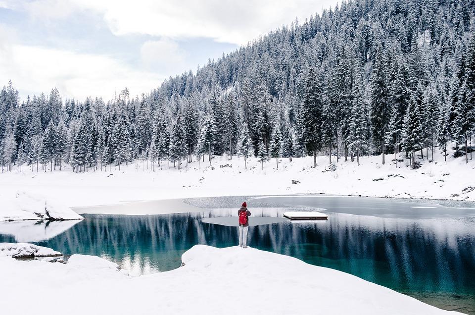 Cold, Lake, Landscape, Nature, Outdoors, Person, Scenic