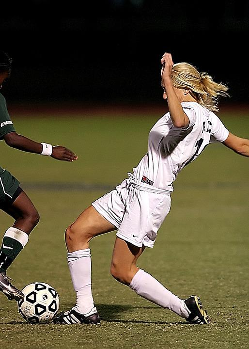 Soccer, Female, Game, Competition, Football, Outdoors