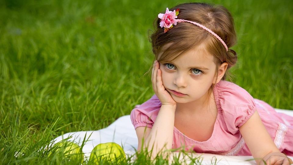 Girl, Grass, Nature, Summer, Cute, Fun, Outdoors, Joy