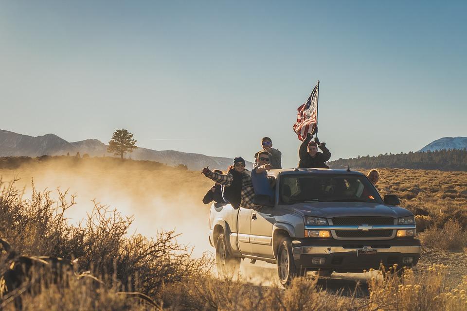 Adventure, American Flag, Desert, Grass, Outdoors