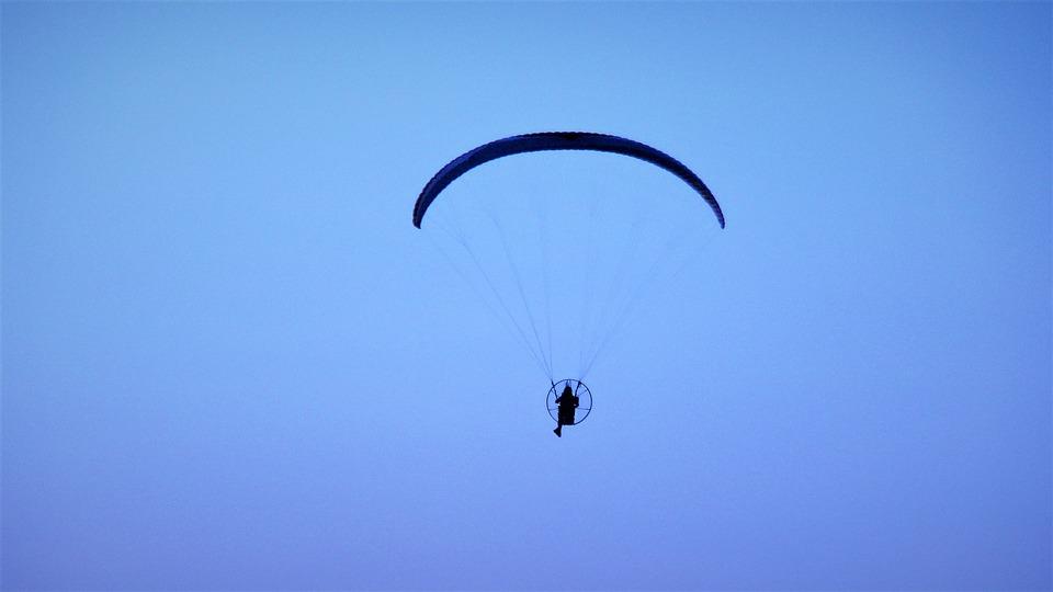 Sky, Flight, Parachute, Outdoors, Fly, Wind