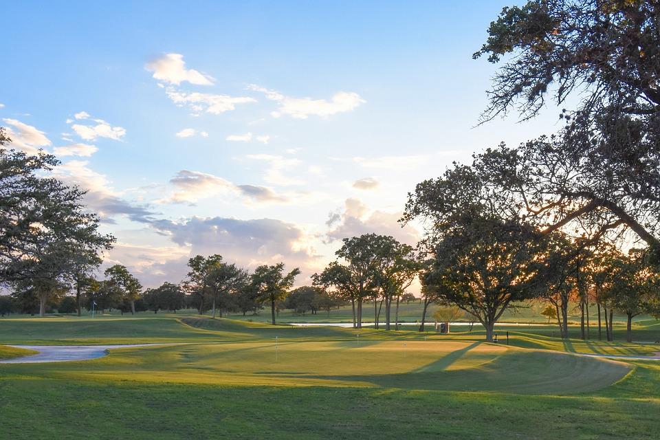 Golf, Golf Course, Sunset, Golfer, Golfing, Outdoors