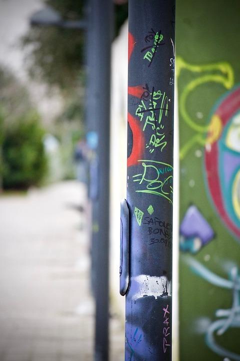 Pali, Graffiti, Urban, Road, Outdoors, City, Lighting