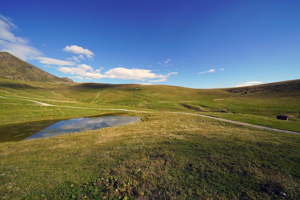 Landscape, Water, Grass, Sky, Outdoors, Nature
