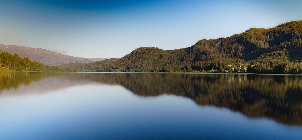 Forest, Horizon, Lake, Mountain, Nature, Outdoors