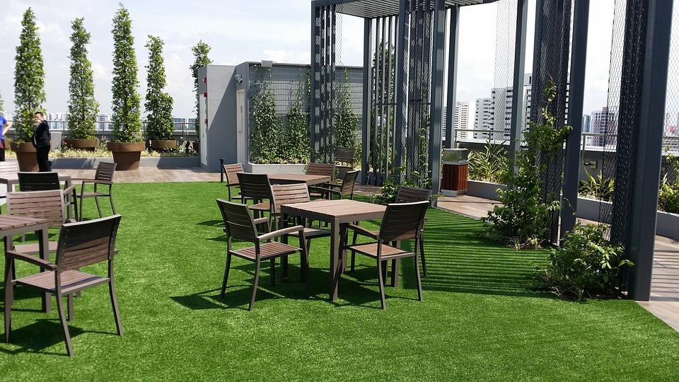 Garden, Rooftop, Outdoors, Scene, Landscape