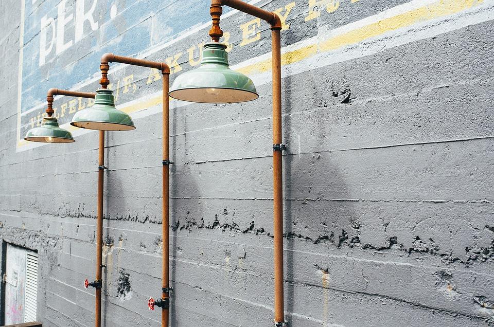 Lamps, Lanterns, Outdoors, Light, Wall, Facade