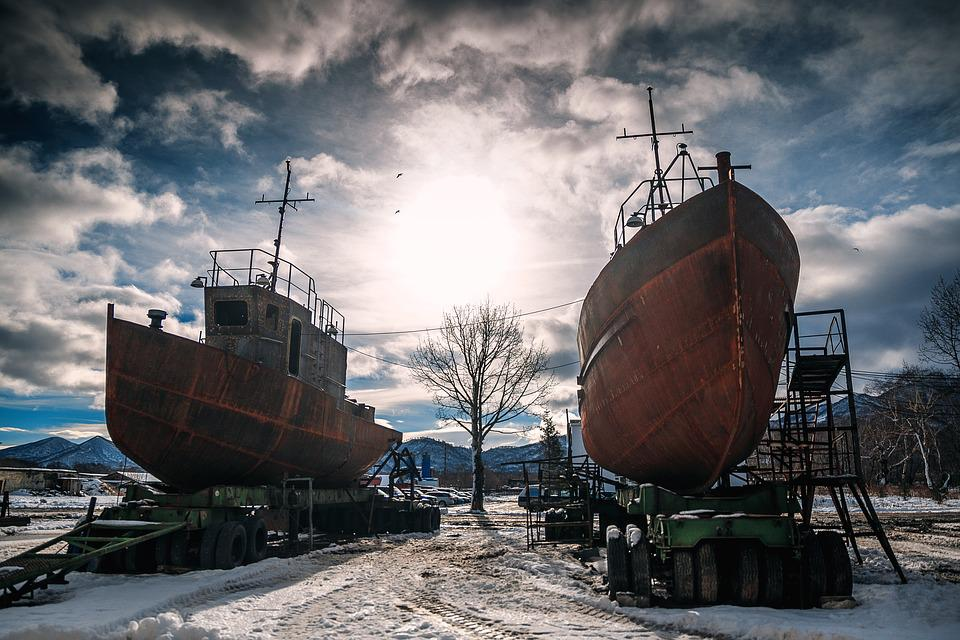 Industry, Ship, The Abandoned, Outdoors, Rusty