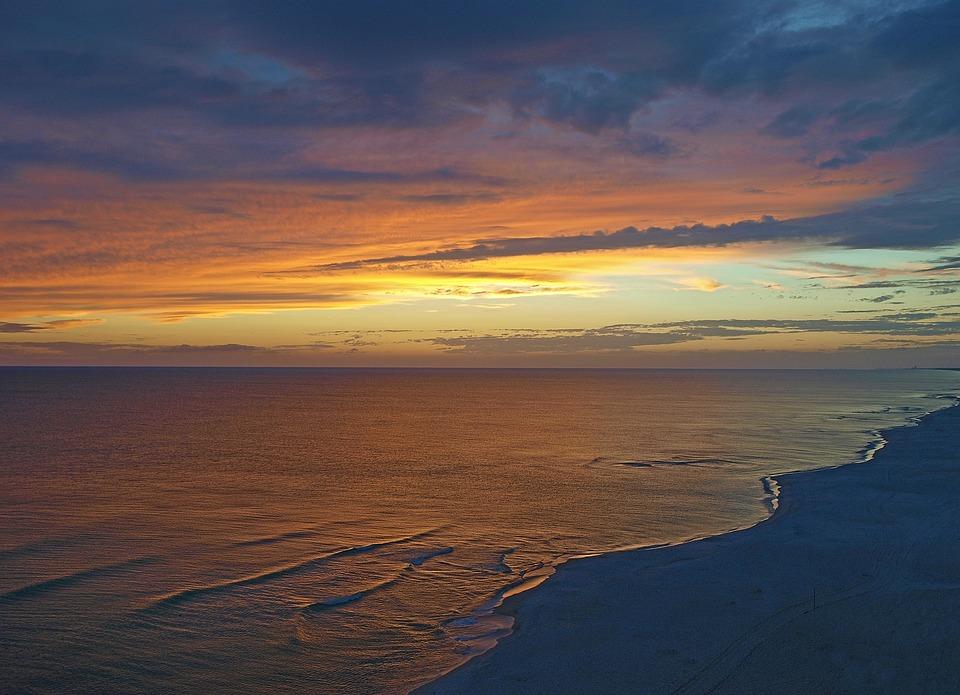 Sunset, Water, Dusk, Dawn, Nature, Outdoors, Sun, Sky