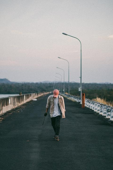 Man, Travel, Outdoors, Road, Boy, Male, Fashion, Model