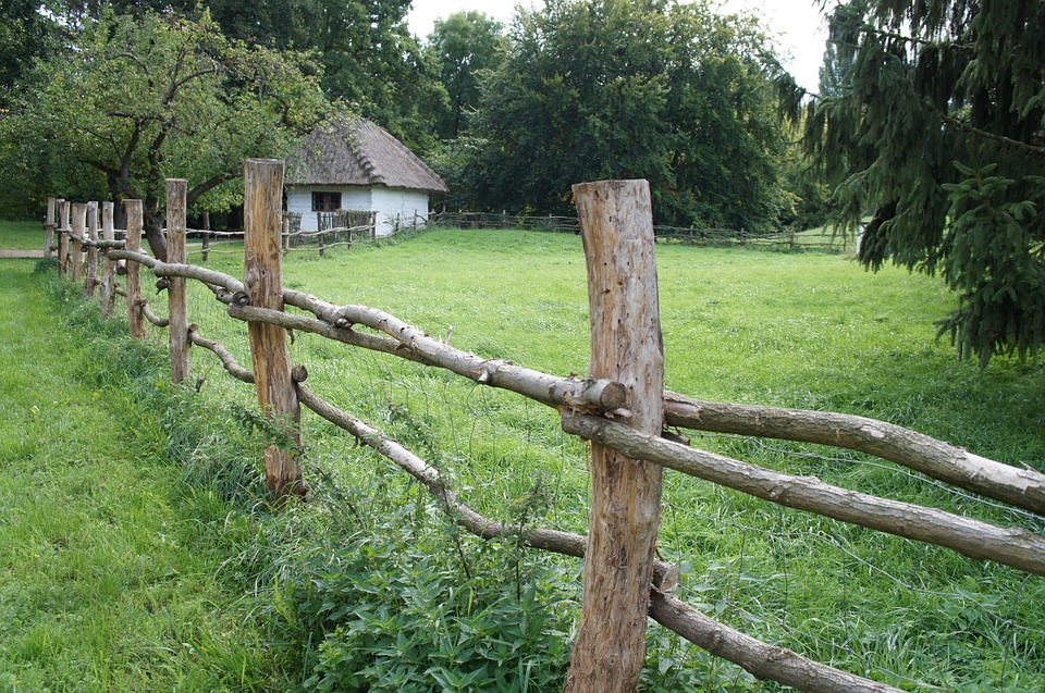 Village, The Countryside, Outdoors, Grass, Wooden Fence