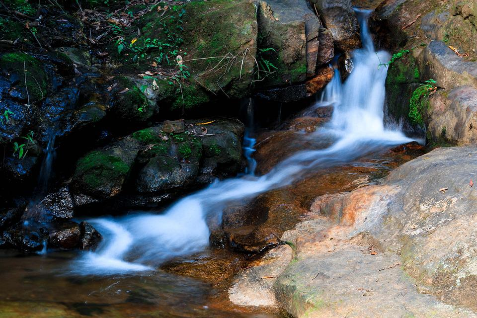 Water, Waterfall, Stream, River, Nature, Outdoors
