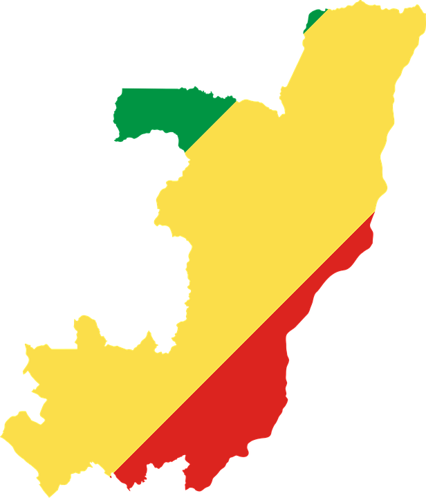Congo, Flag, Map, Geography, Outline, Africa, Country