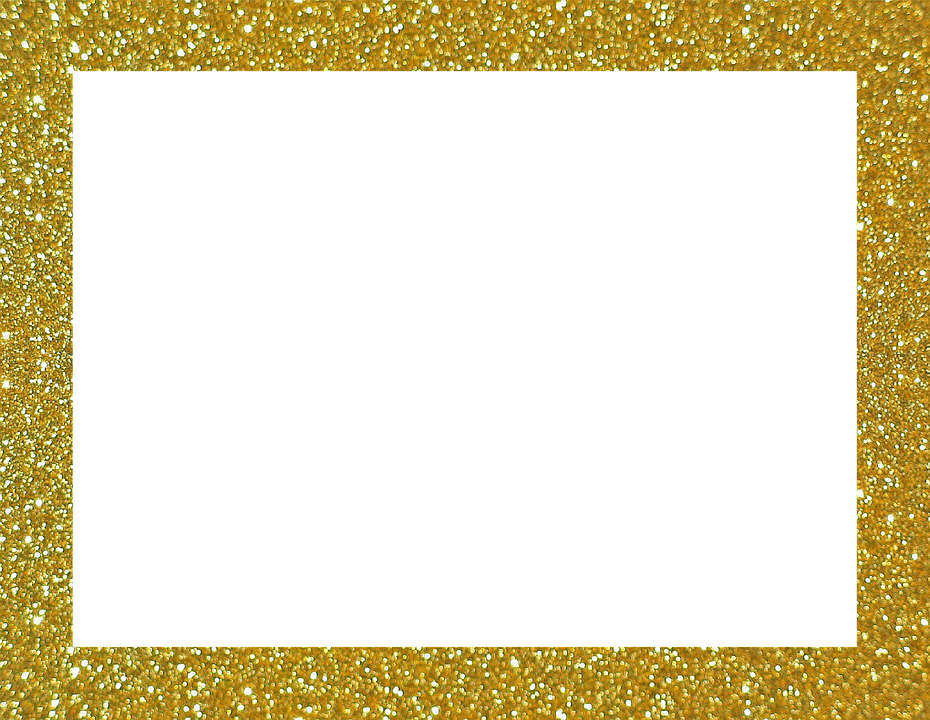 Picture Frame, Frame, Outline, Abstract, Image, Gold