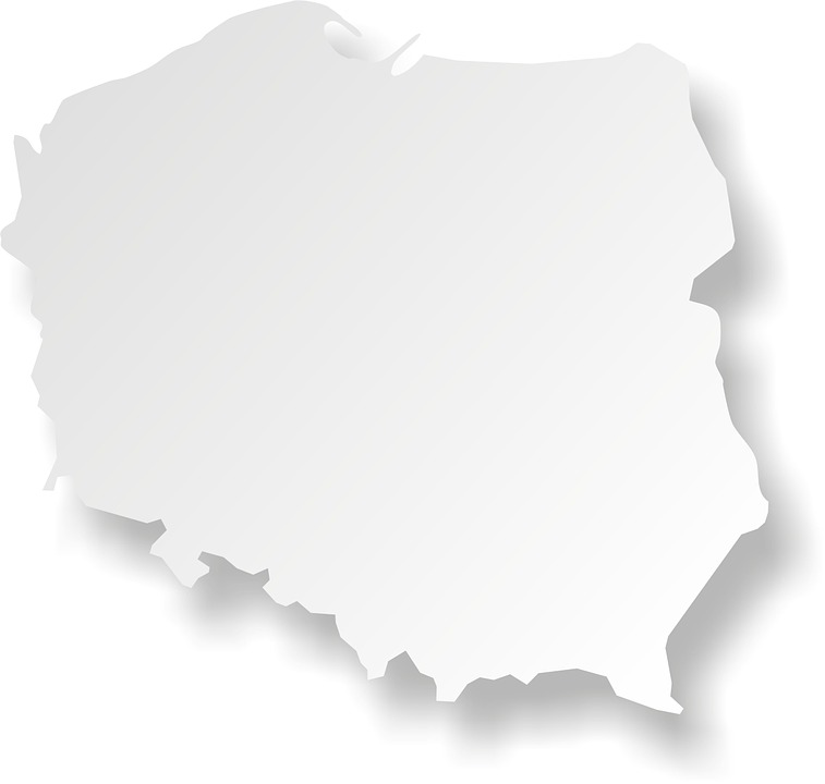 Poland, Map, Maps, The Outline Of The, Outline, Country