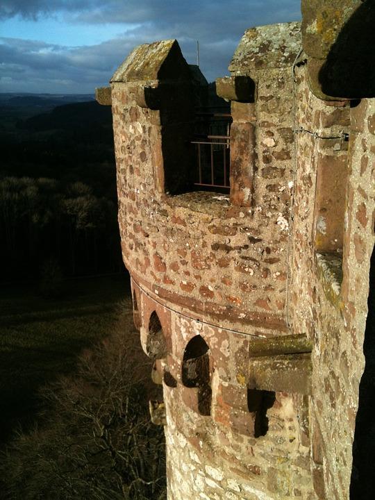 Castle, Eifel, Outlook, Middle Ages, Battlements