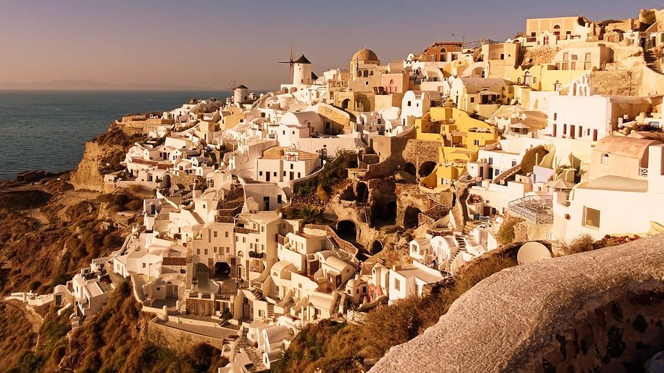 Greece, Santorini, Architecture, Island, Outlook, Old