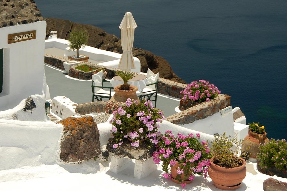 Greece, Santorini, Outlook, Sea