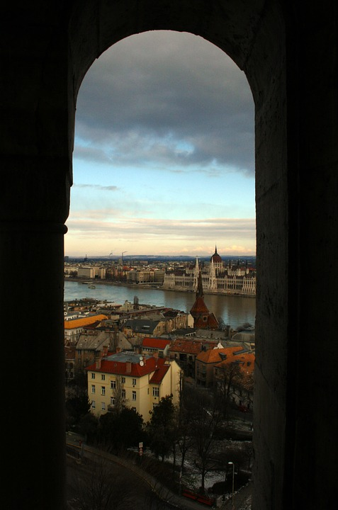 Budapest, Tower, View, City, Danube, Outlook, Shadow