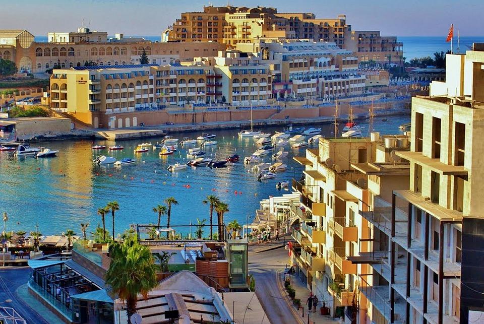 Malta, Ocean, Outside, Water, Architecture, Sky, Boats