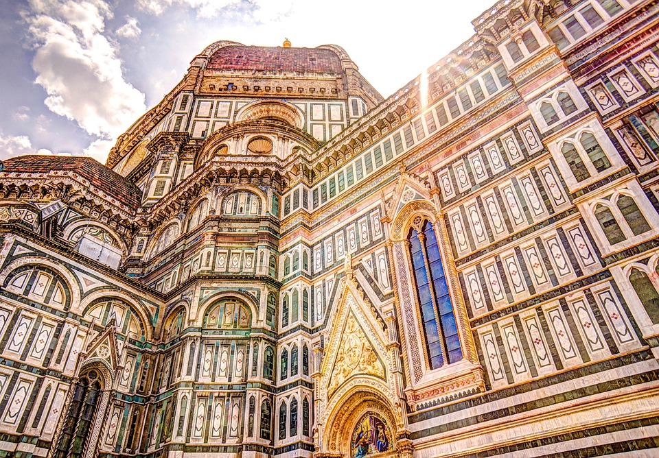 Cathedral, Florence, Dome, Italy, Church, Outside