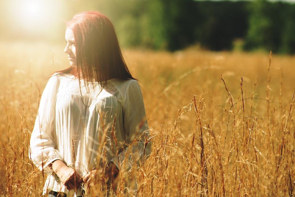 Girl, Pretty, Outdoors, Portrait, Outside, Field