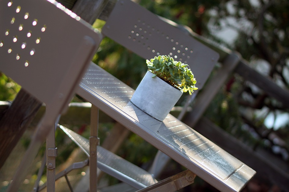 Table, Outside, Nature, France, Sun, Grey, Plant, Green