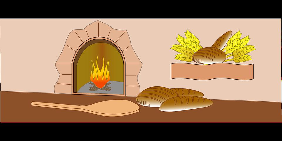 Baker, Oven, Fire, Bread, Bakery