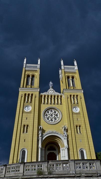 Church, Sky, Overcast