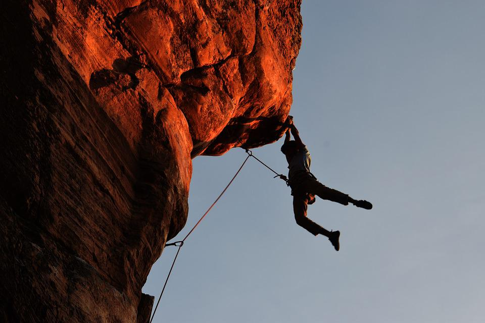 Climbing, Rock Climbing, Overhang, Rope, Protection