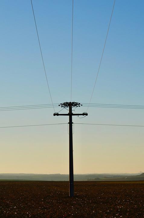 Landline, Overhead Line, Current, Energy, Electricity